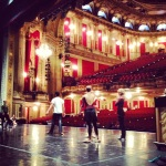 On stage at the Opera House