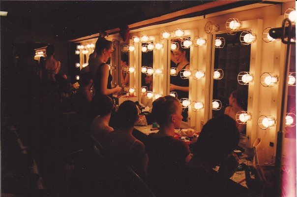 Pictured in the dressing rooms of the David Koch theater, prepping for our performance with the NYCB, honoring Lincoln Kirstein in 2007.