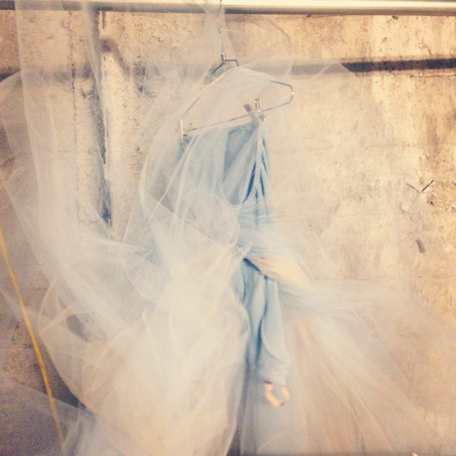 A flurry of toile... The Serenade Costume as it stands.. Backstage at the Boston Opera House before coming to life...