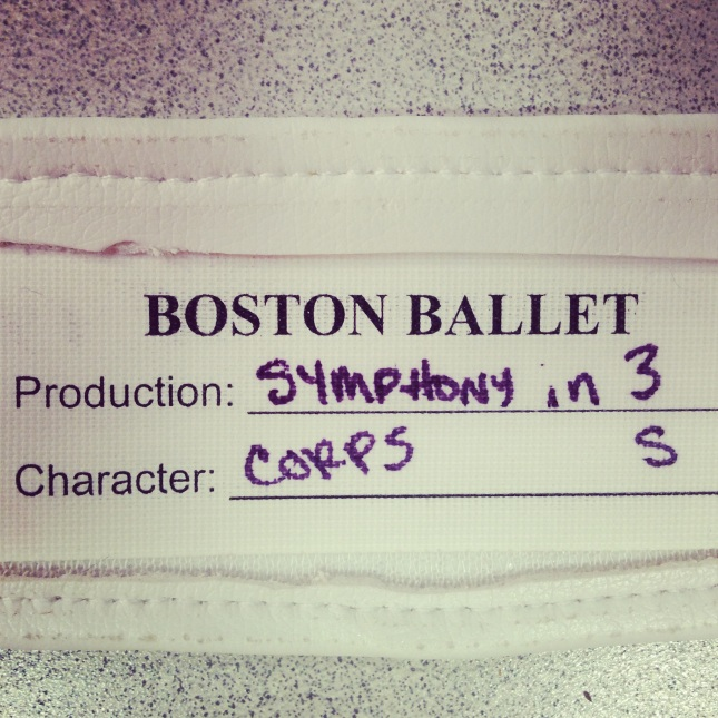 Symphony in Three Movements Belt- pictured on tour with the Boston Ballet