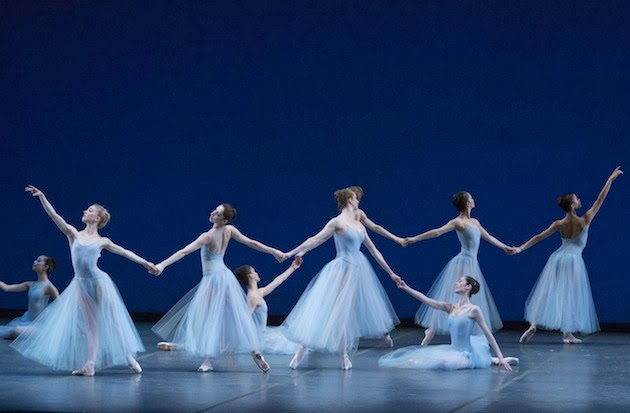 as featured on Boston Fashionista - Performing George Balanchine's Serenade at the Boston Ballet's Night of Stars