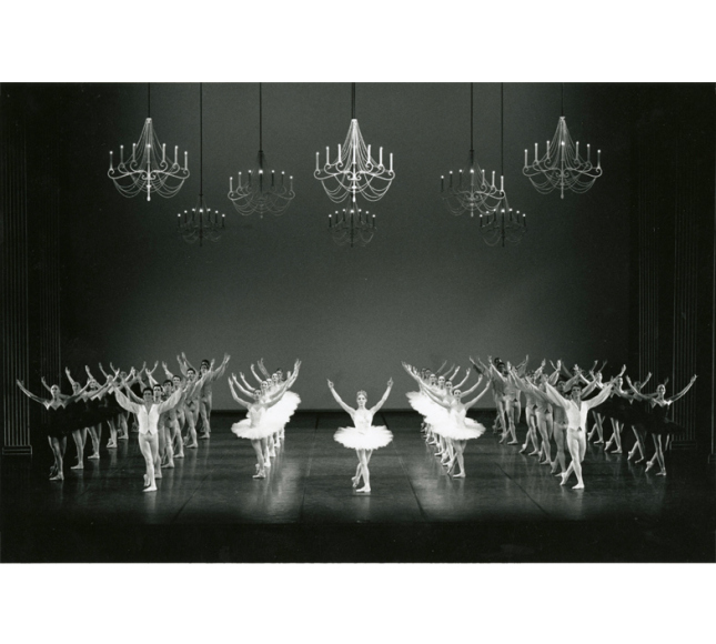 ...and a little throwback to Boston Ballet's 1988 performance of Etudes. (photo credit: Boston Ballet Archives)