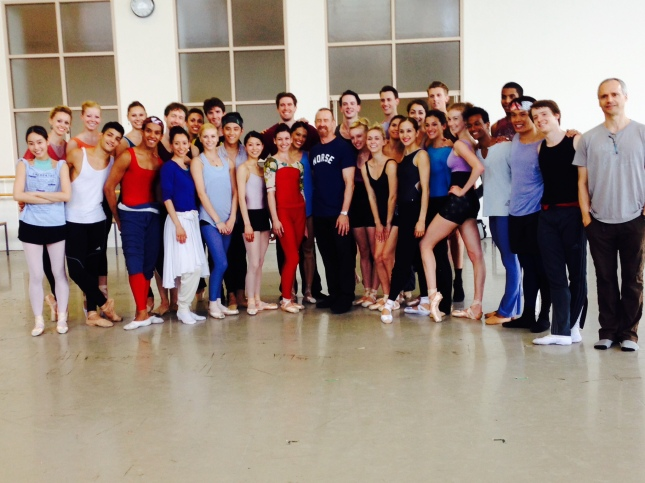 Boston Ballet pictured with William Forsythe
