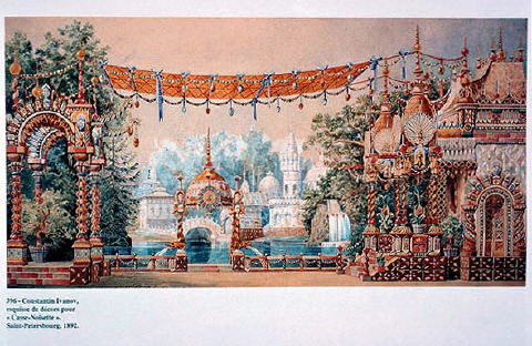 Konstantin Ivanov's original sketch for the set of The Nutcracker (1892)