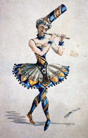 Ivan Vsevolozhsky's original costume sketch for The Nutcracker (1892)