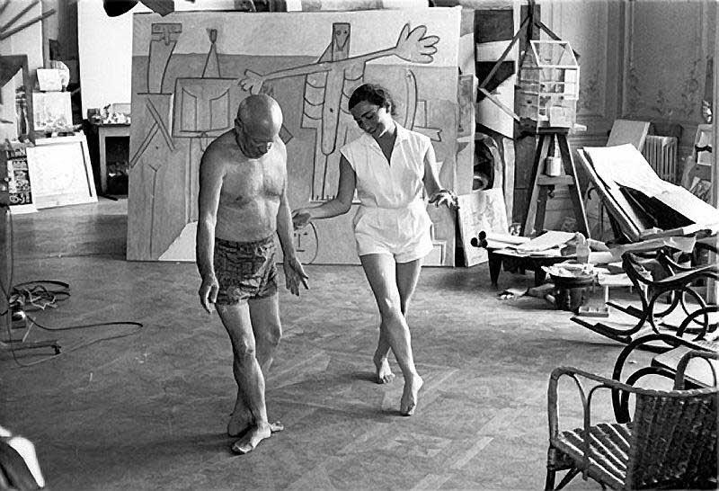 Jacqueline Roque teaching Pablo Picasso (google.com)